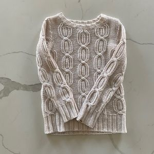 Cream Dex wool-blend knitted cozy sweater